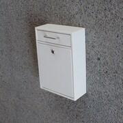 Mail Boss Locking Wall Mounted Mailbox; White