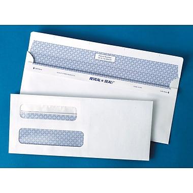 Quality Park™ – Enveloppes à teinte de sécurité Redi-Seal™ double fenêtre, taille n° 8 5/8 pour chèque, paq./500