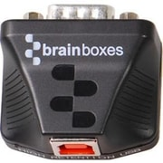Brainboxes 1-Port USB Type B to RS422/485 Male/Male Serial Data Transfer Adapter, Black (US-320)