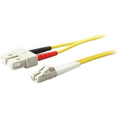 AddOn ADD-SC-LC-5M9SMF 16.4' Single-Mode Fiber Optic Duplex Network Patch Cable, Yellow