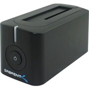 "Sabrent  2 1/2"" and 3 1/2"" USB 3.0/SATA Hard Drive Docking Station, Black (DS-UBLK)"