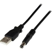 StarTech® 2m USB to Type N Barrel Cable - USB to 5.5mm 5V DC Power Cable