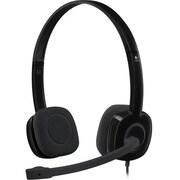 Logitech H151 Computer Headset, Black (981-000587)