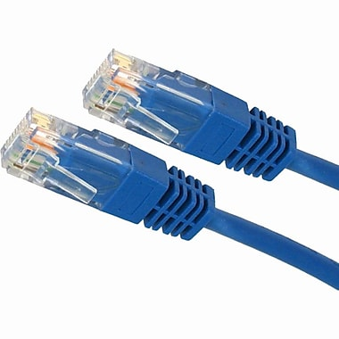 4XEM 10FT Cat5e Molded RJ45 UTP Network Patch Cable (Blue) (4XC5EPATCH10BL)