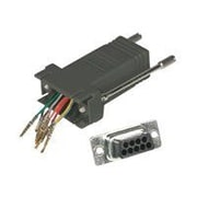 C2G ® 2947 RJ-45/DB9 Female/Male Serial RS232 Modular Adapter, Black