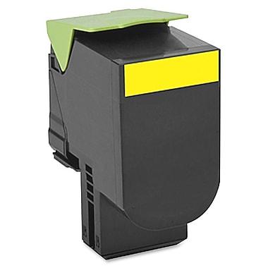 Lexmark – Cartouche de toner 700H4, laser, rendement élevé, fabricant d'origine, jaune, (70C0H40)