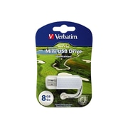 Verbatim ® Store 'n' Go 8GB 10Mbps Read/4Mbps Write Mini USB 2.0 Flash Drive, White/Golf (98510)