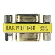 Tripp Lite P150-000 DB9 Female/Female Compact/Slimline Coupler Gender Changer, Gold