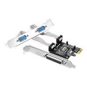 Siig® Cyber JJ-P21211-S1 3 Port PCI-Express Serial/Parallel Combo Adapter