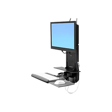 Ergotron ® 61-080-085 StyleView ® Sit-Stand Vertical Lift for Flat Panel, Black