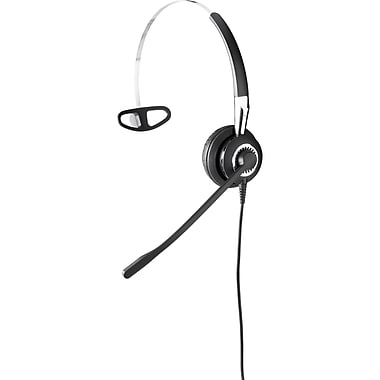 Jabra BIZ 2400 II QD Over-the-Head 3-in-1 Mono Headset with Noise-Cancelling Microphone, Black