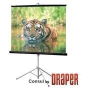 """Draper ® 70"""" x 70"""" Consul Portable Tripod Projection Screen, Matte White (216004B)"""