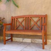 Vifah Contemporary Outdoor Wood Garden Bench