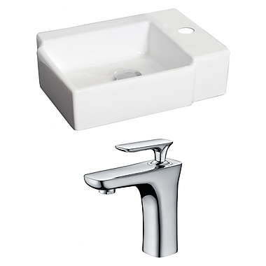 American Imaginations Rectangular Vessel Bathroom Sink