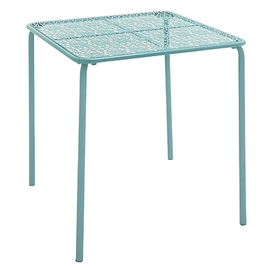 Cole & Grey Metal Side Table; Turquoise