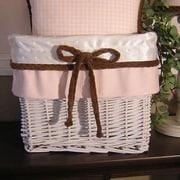 Brandee Danielle Pink Chocolate Wicker Basket