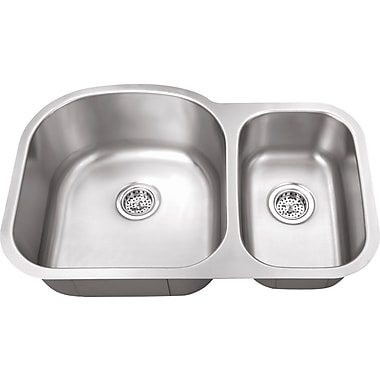 Soleil 31.5'' x 20.5'' Double Bowl Kitchen Sink