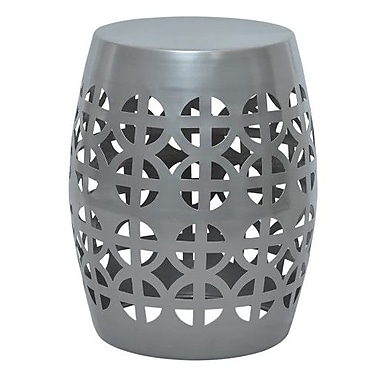 Fashion N You Artisan Stool; Silver