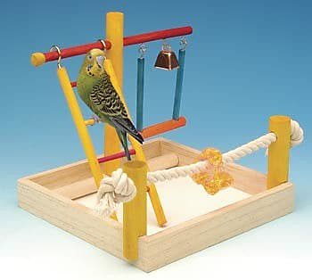 Penn Plax Small Wooden Playground Bird Activity Center WYF078276455441