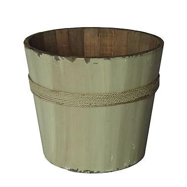 Cheungs Wooden Round Bucket; White