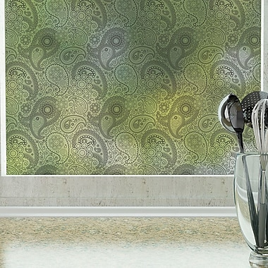 Odhams Press Crazy Paisley Privacy Window Film; 48 H X 36 W