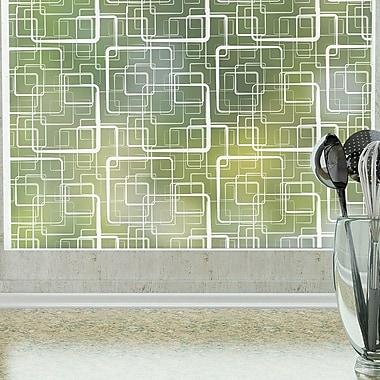 Odhams Press Retro Squares Privacy Window Film; 48 H X 36 W