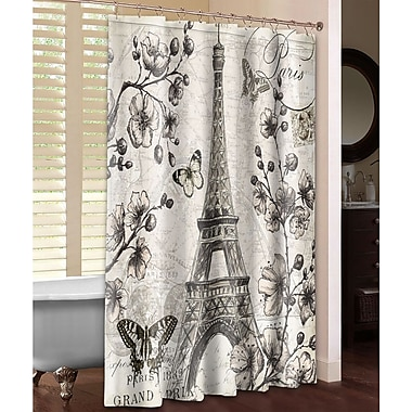 LauralHome Paris in Bloom Shower Curtain