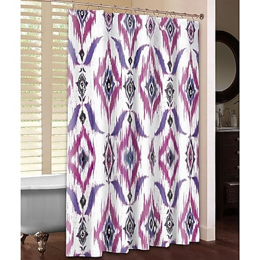 LauralHome Ikat Shower Curtain