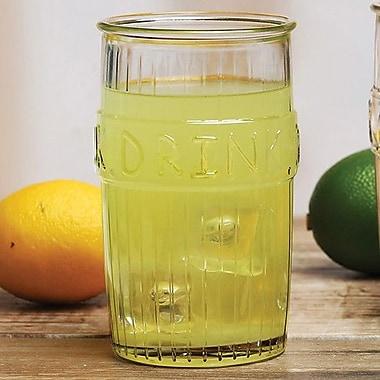 Circle Glass Drink Design 17 oz. Cooler Glass (Set of 4)
