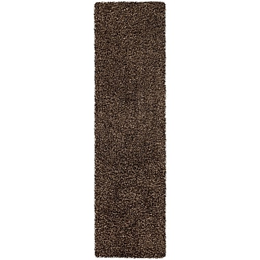 Brayden Studio Mchaney Hand-Tufted Brown Area Rug; Runner 2'3'' x 8'