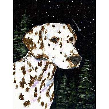 Caroline's Treasures Starry Night Dalmatian House Vertical Flag