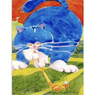 Caroline's Treasures Blue Cat Golpher 2-Sided Garden Flag