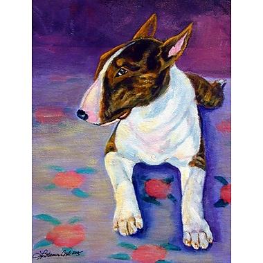 Caroline's Treasures Bull Terrier 2-Sided Garden Flag