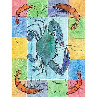 Caroline's Treasures Crab 2-Sided Garden Flag