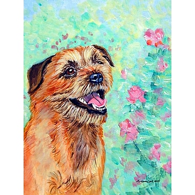 Caroline's Treasures Border Terrier 2-Sided Garden Flag
