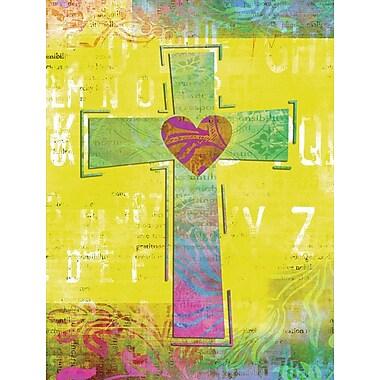 Caroline's Treasures Artsy Cross 2-Sided Garden Flag