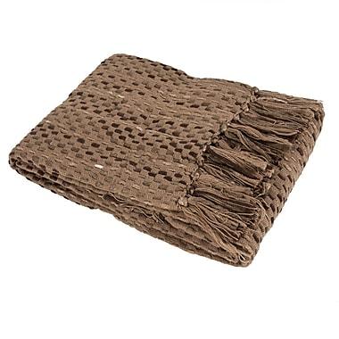 Saro Basket Weave Throw Blanket