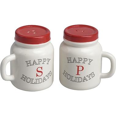 Transpac Imports, Inc 2 Piece Mason Jar Salt and Pepper Shaker Set