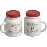 Transpac Imports, Inc 2 Piece Mason Jar Salt and Pepper Shaker Set