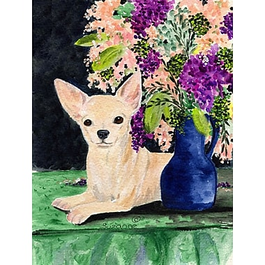 Caroline's Treasures Chihuahua House Vertical Flag