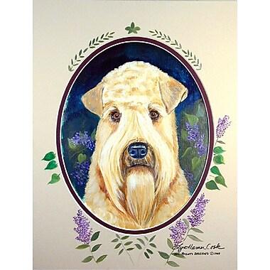 Caroline's Treasures Wheaten Terrier Soft Coated House Vertical Flag