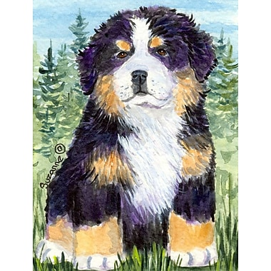 Caroline's Treasures Bernese Mountain Dog House Vertical Flag