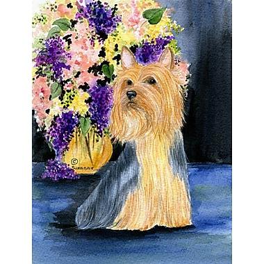 Caroline's Treasures Silky Terrier 2-Sided Garden Flag