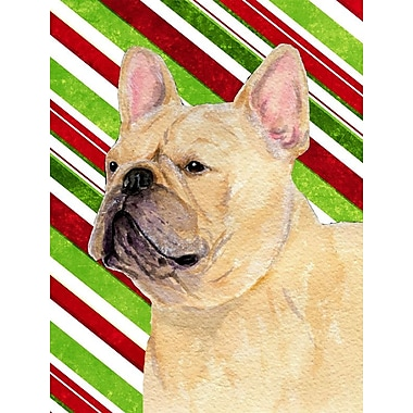 Caroline's Treasures French Bulldog Candy Cane Holiday Christmas 2-Sided Garden Flag