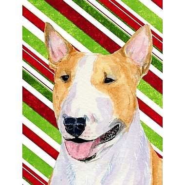 Caroline's Treasures Bull Terrier Candy Cane Holiday Christmas 2-Sided Garden Flag