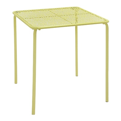 Cole & Grey Metal Side Table; Yellow