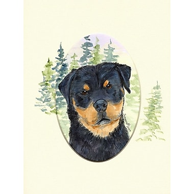 Caroline's Treasures Rottweiler House Vertical Flag