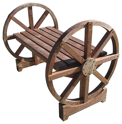 SamsGazebos Wheel Wood Garden Bench