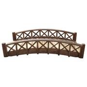 SamsGazebos Garden Bridge w/ Cross Halved Lattice Railing; 17'' H x 72'' W x 35.5'' D