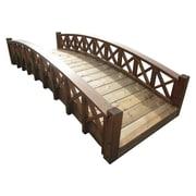 SamsGazebos Garden Bridge w/ Cross Halved Lattice Railing; 21'' H x 96'' W x 37'' D